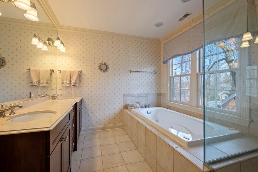 Real Estate Photography - 32 Hawthorne, Lake Bluff, IL, 60044 - Master Bathroom