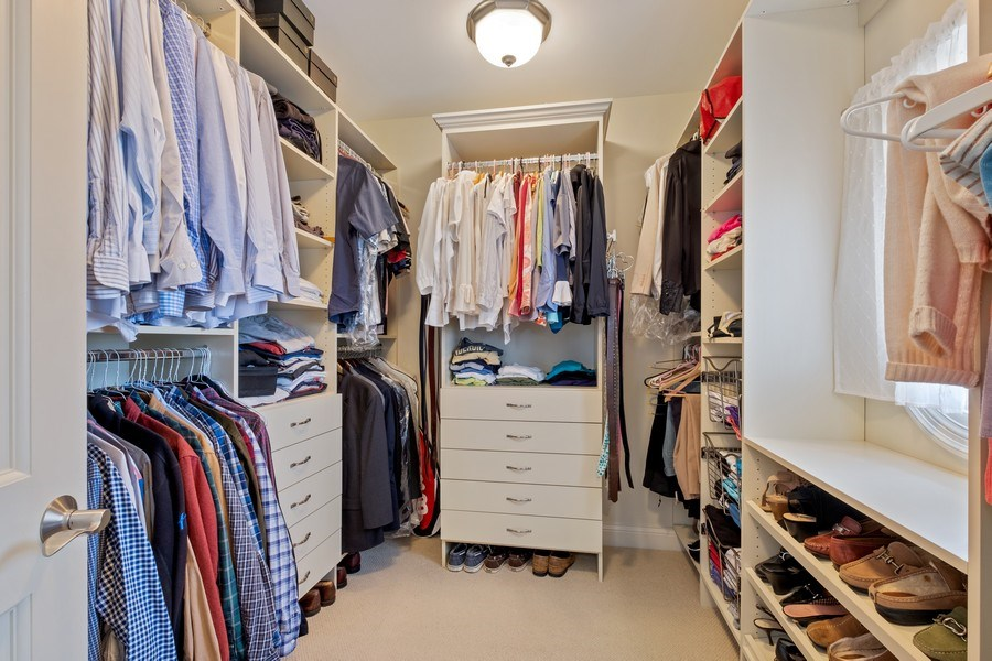 Real Estate Photography - 32 Hawthorne, Lake Bluff, IL, 60044 - Master Bedroom Closet