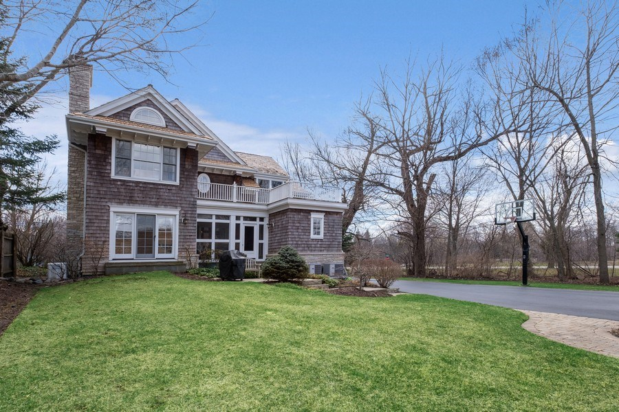 Real Estate Photography - 32 Hawthorne, Lake Bluff, IL, 60044 - Rear View
