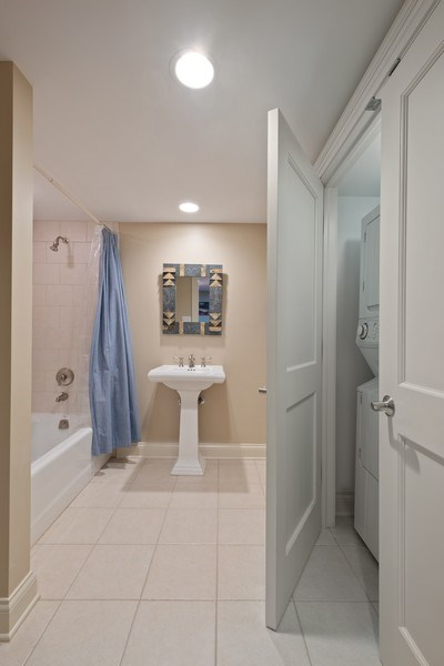 Real Estate Photography - 32 Hawthorne, Lake Bluff, IL, 60044 - Bathroom/2nd laundry