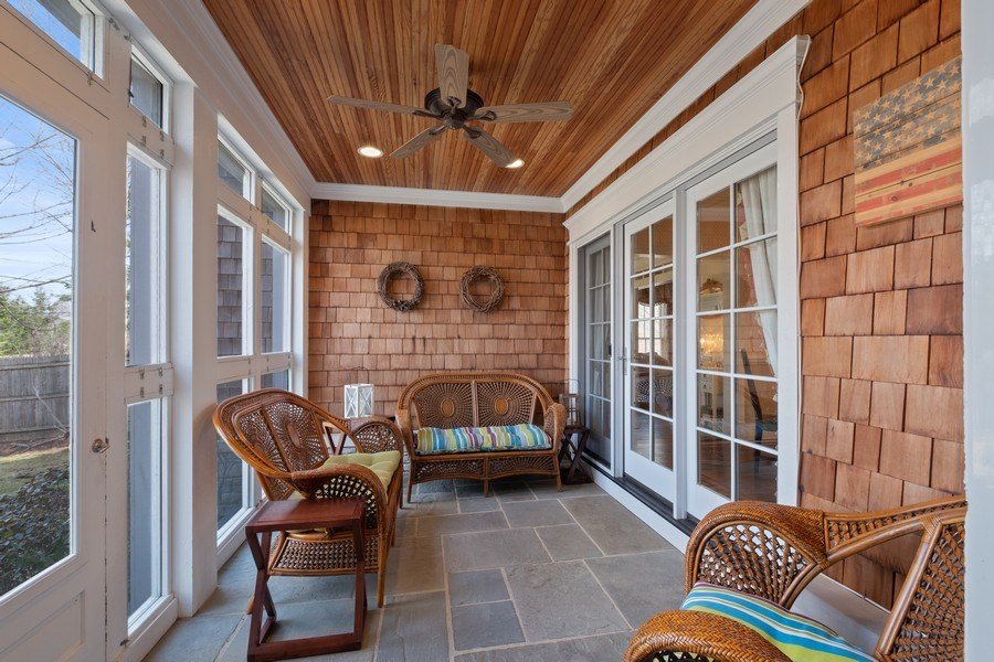 Real Estate Photography - 32 Hawthorne, Lake Bluff, IL, 60044 - Screened Porch