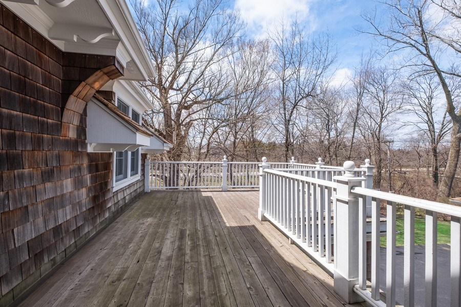 Real Estate Photography - 32 Hawthorne, Lake Bluff, IL, 60044 - Master Bedroom Balcony