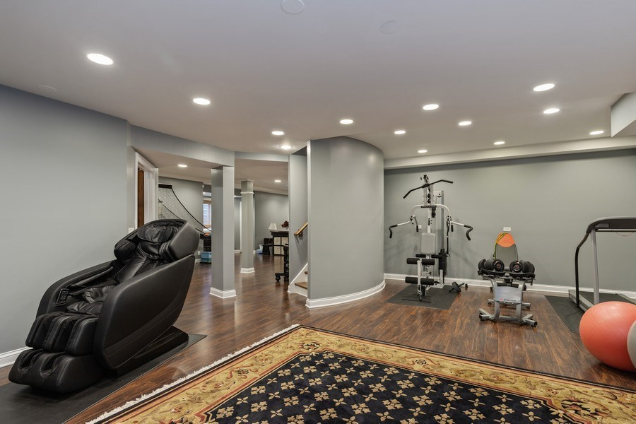 Real Estate Photography - 1125 Emmons Ct, Lake Forest, IL, 60045 - Basement/Exercise Room