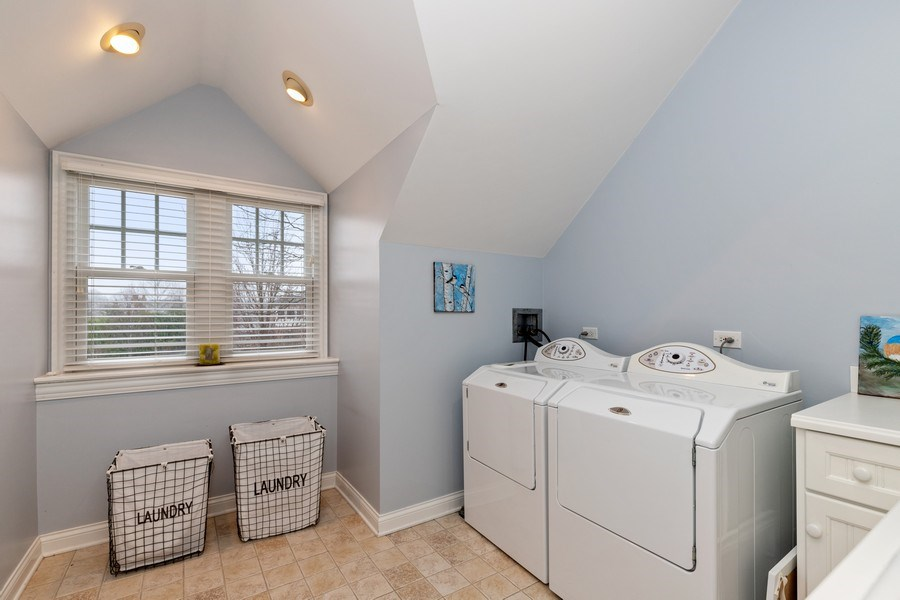Real Estate Photography - 1125 Emmons Ct, Lake Forest, IL, 60045 - 2nd Floor Laundry Room