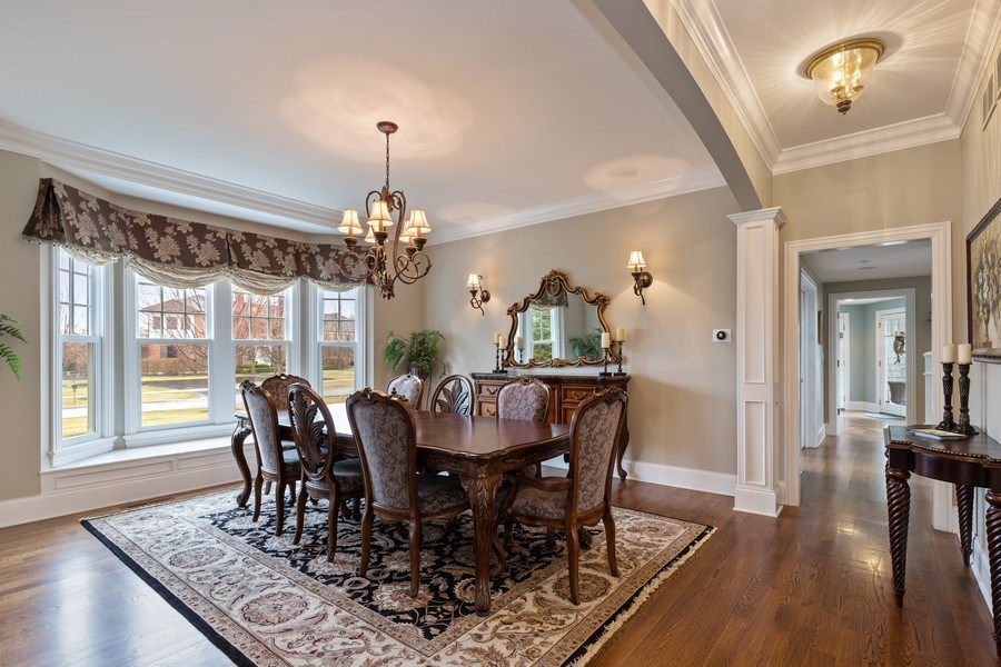 Real Estate Photography - 1125 Emmons Ct, Lake Forest, IL, 60045 - Dining Room