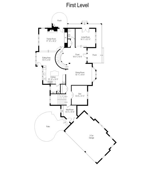 Real Estate Photography - 1125 Emmons Ct, Lake Forest, IL, 60045 - Floor Plan