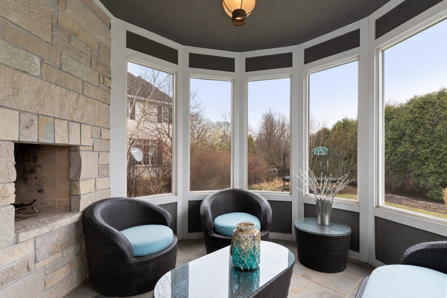 Real Estate Photography - 1125 Emmons Ct, Lake Forest, IL, 60045 - Screened Porch