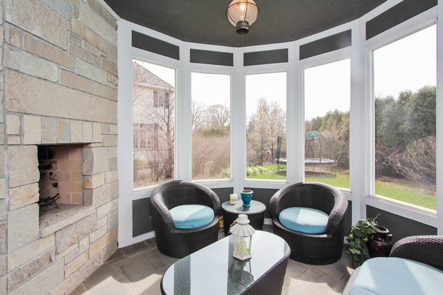 Real Estate Photography - 1125 Emmons Ct, Lake Forest, IL, 60045 - Sunroom