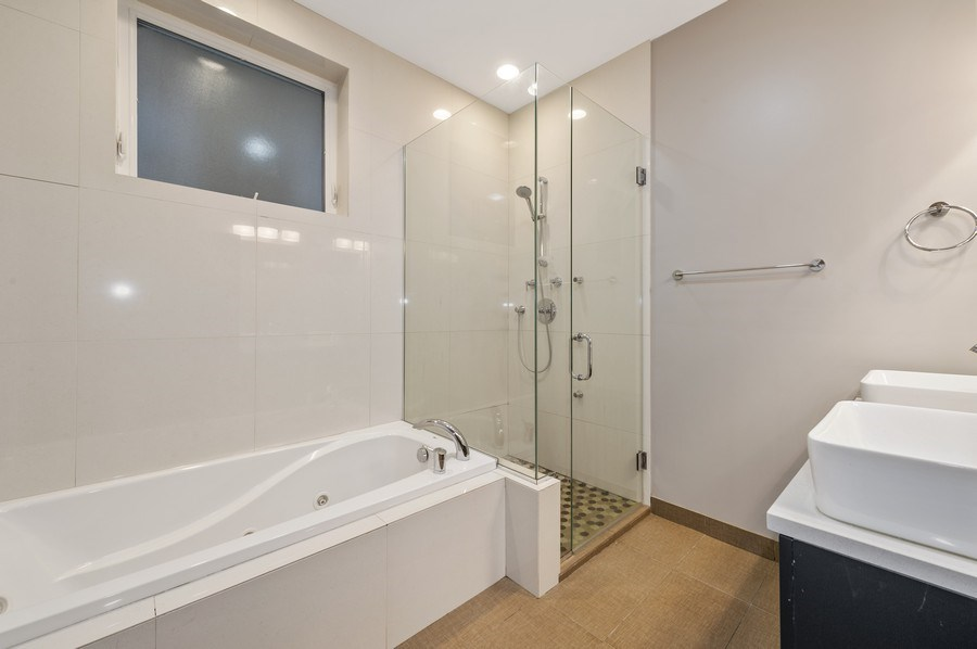 Real Estate Photography - 1916 N. Kedzie Ave., #1F, Chicago, IL, 60647 - Master Bathroom