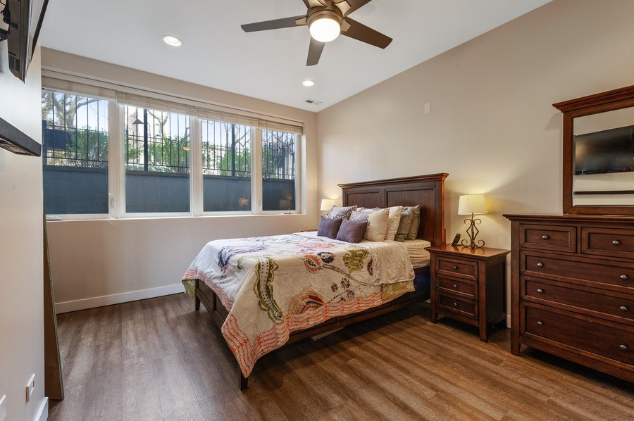 Real Estate Photography - 1916 N. Kedzie Ave., #1F, Chicago, IL, 60647 - Master Bedroom
