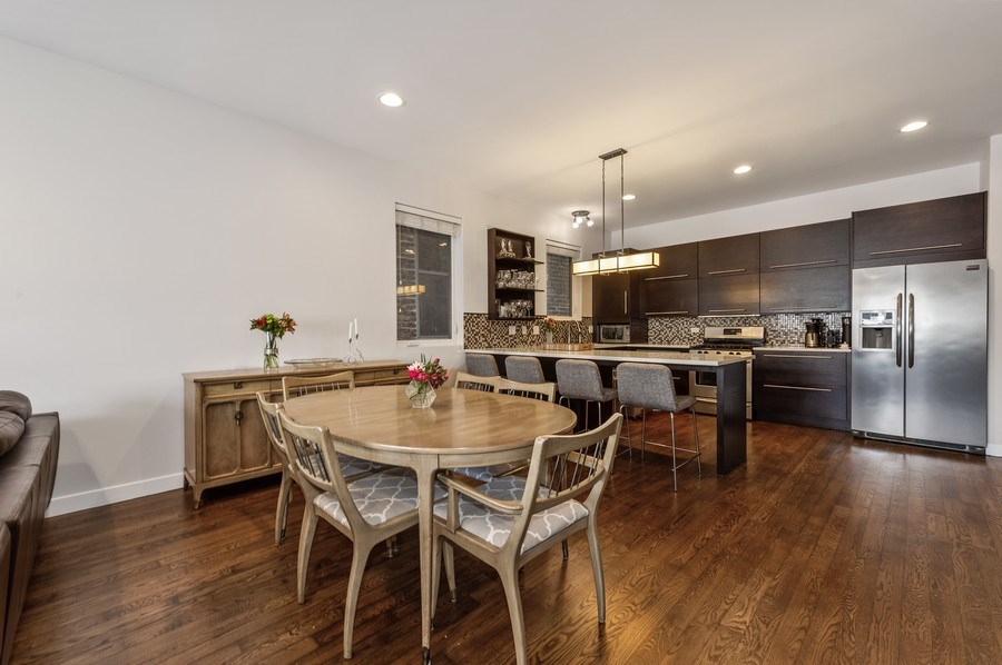 Real Estate Photography - 1916 N. Kedzie Ave., #1F, Chicago, IL, 60647 - Kitchen / Dining Room
