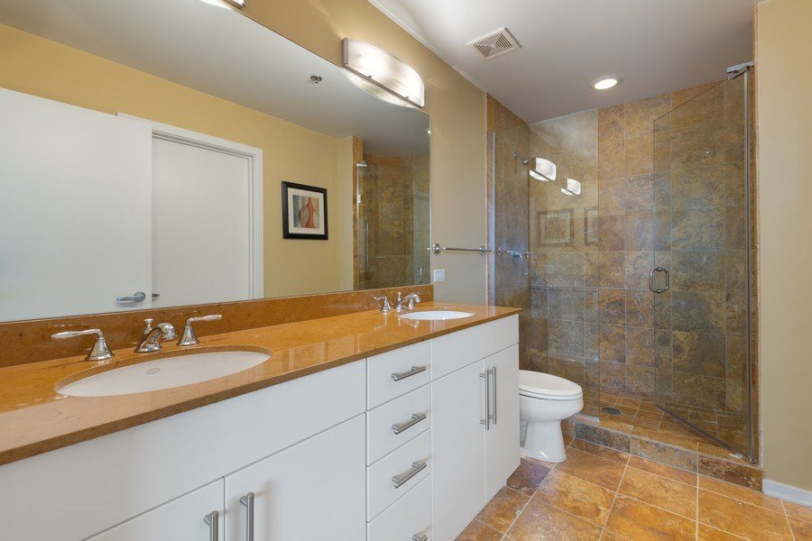 Real Estate Photography - 125 S Green St, Unit 301 A, Chicago, IL, 60607 - Master Bathroom