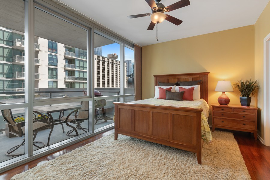 Real Estate Photography - 125 S Green St, Unit 301 A, Chicago, IL, 60607 - Master Bedroom