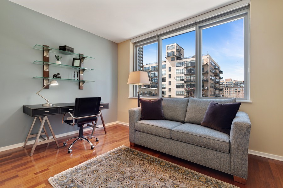 Real Estate Photography - 125 S Green St, Unit 301 A, Chicago, IL, 60607 - 2nd Bedroom