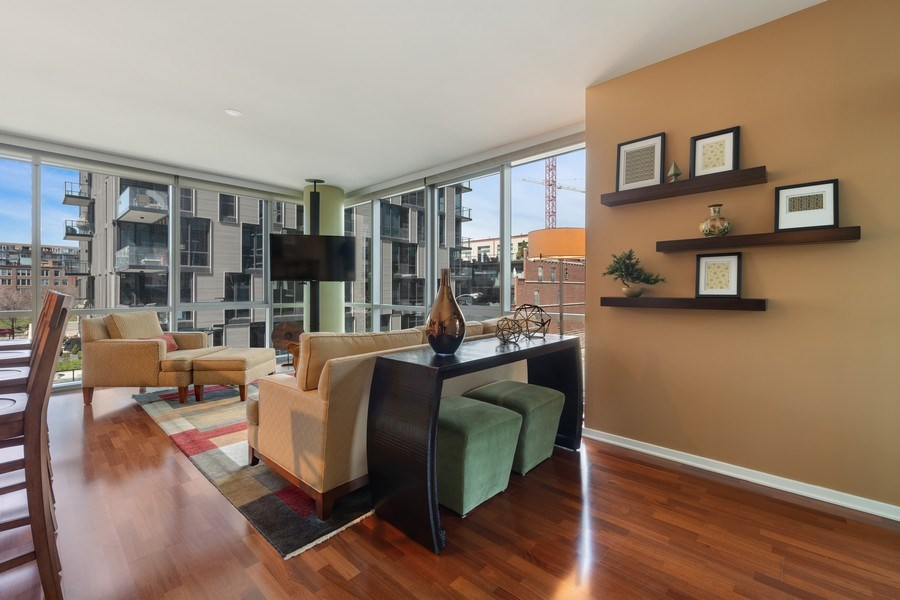 Real Estate Photography - 125 S Green St, Unit 301 A, Chicago, IL, 60607 - Living Room