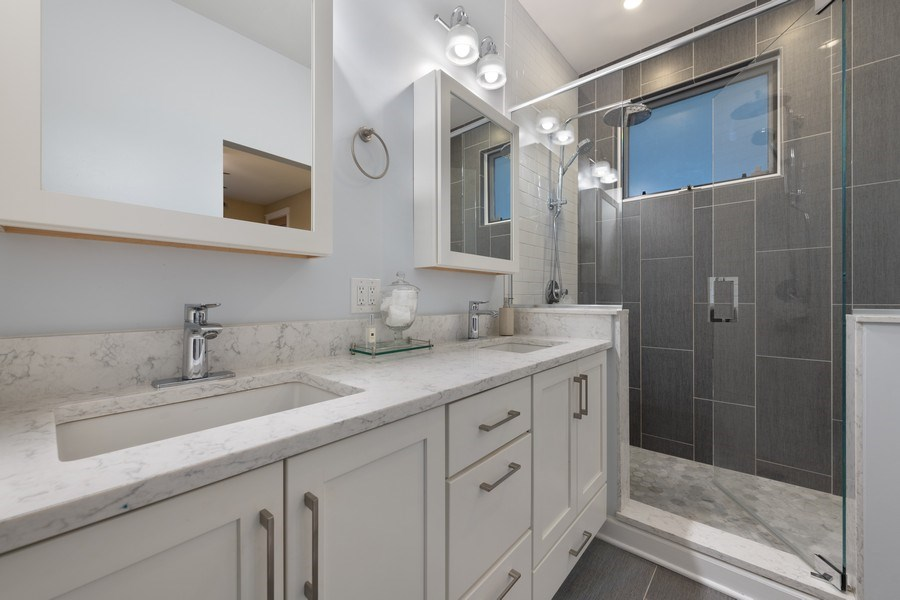 Real Estate Photography - 1369 W Hubbard St, Unit 1E, Chicago, IL, 60642 - Master Bathroom