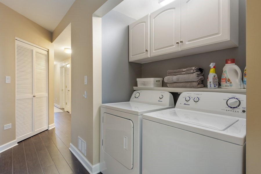 Real Estate Photography - 1369 W Hubbard St, Unit 1E, Chicago, IL, 60642 - Laundry Room