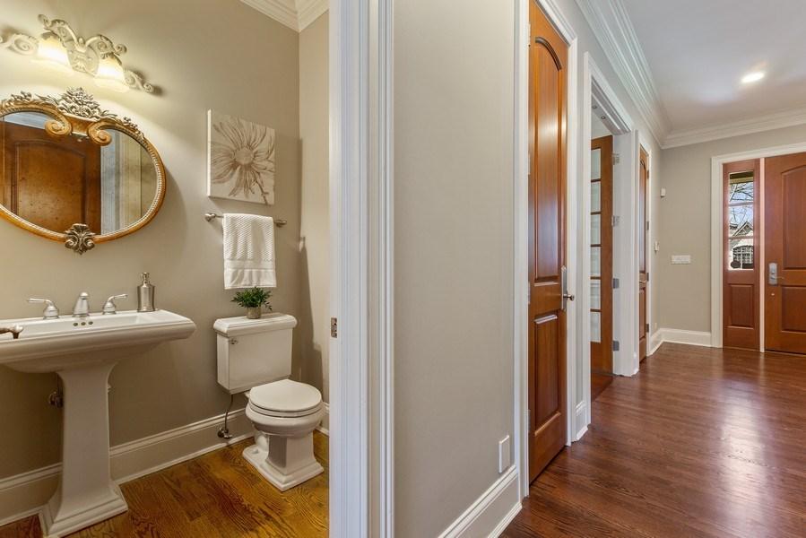 Real Estate Photography - 107 N Bruner St, Hinsdale, IL, 60521 - Powder Room