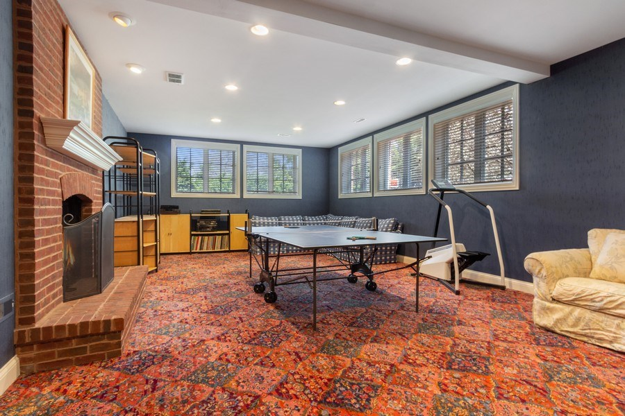 Real Estate Photography - 900 Lake St, Libertyville, IL, 60048 - Lower Level Family Room