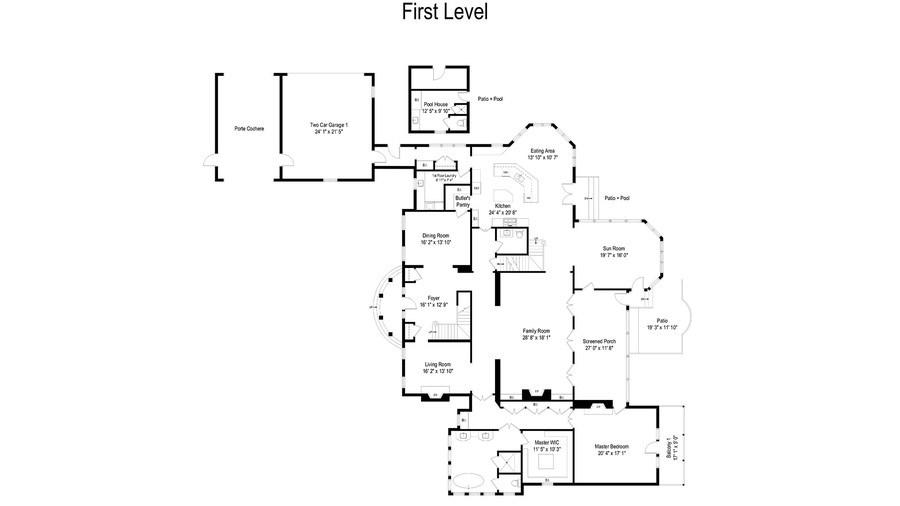 Real Estate Photography - 900 Lake St, Libertyville, IL, 60048 - Floor Plan