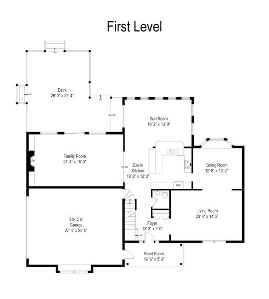Real Estate Photography - 552 Welch Cir, Lake Barrington, IL, 60010 - Floor Plan
