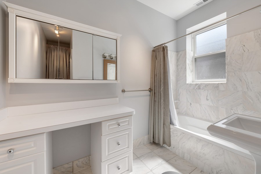 Real Estate Photography - 4921 N Winthrop, Unit 2S, Chicago, IL, 60640 - Master Bathroom