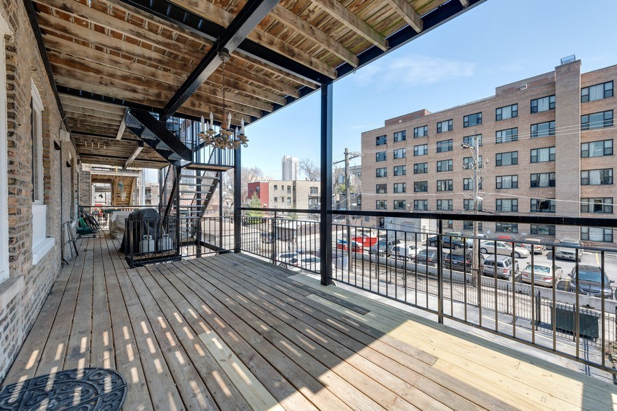 Real Estate Photography - 4921 N Winthrop, Unit 2S, Chicago, IL, 60640 - Deck