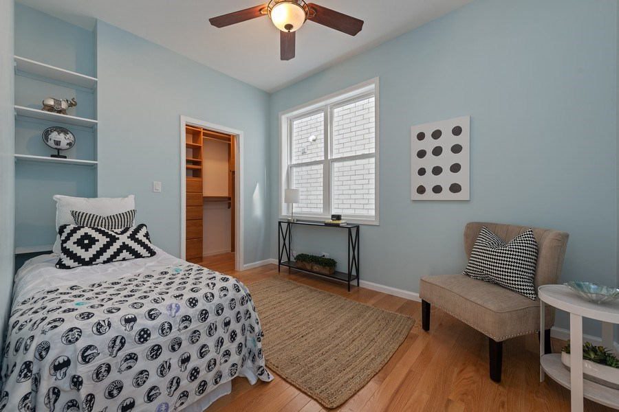 Real Estate Photography - 3645 N Wayne, Unit A, Chicago, IL, 60613 - 2nd Bedroom