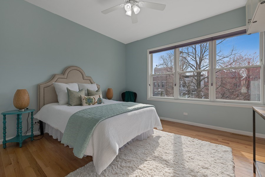 Real Estate Photography - 3645 N Wayne, Unit A, Chicago, IL, 60613 - Bedroom
