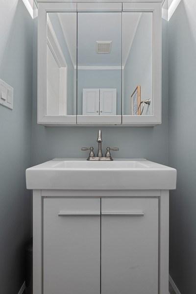Real Estate Photography - 3645 N Wayne, Unit A, Chicago, IL, 60613 - Half Bath
