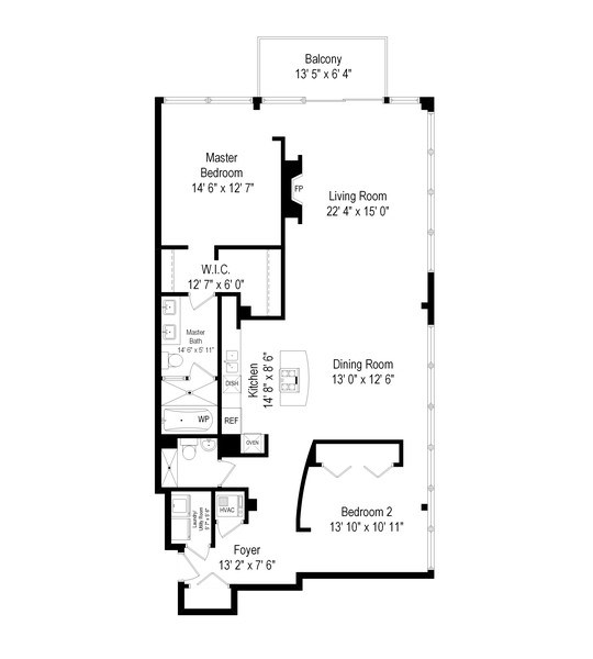 Real Estate Photography - 130 S Canal St, Unit 803, Chicago, IL, 60606 - Floor Plan