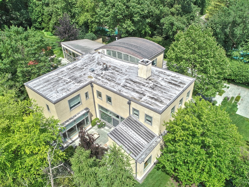 Real Estate Photography - 905 Sunset Road, Winnetka, IL, 60093 - Aerial View