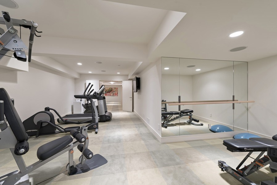 Real Estate Photography - 905 Sunset Road, Winnetka, IL, 60093 - Exercise Room