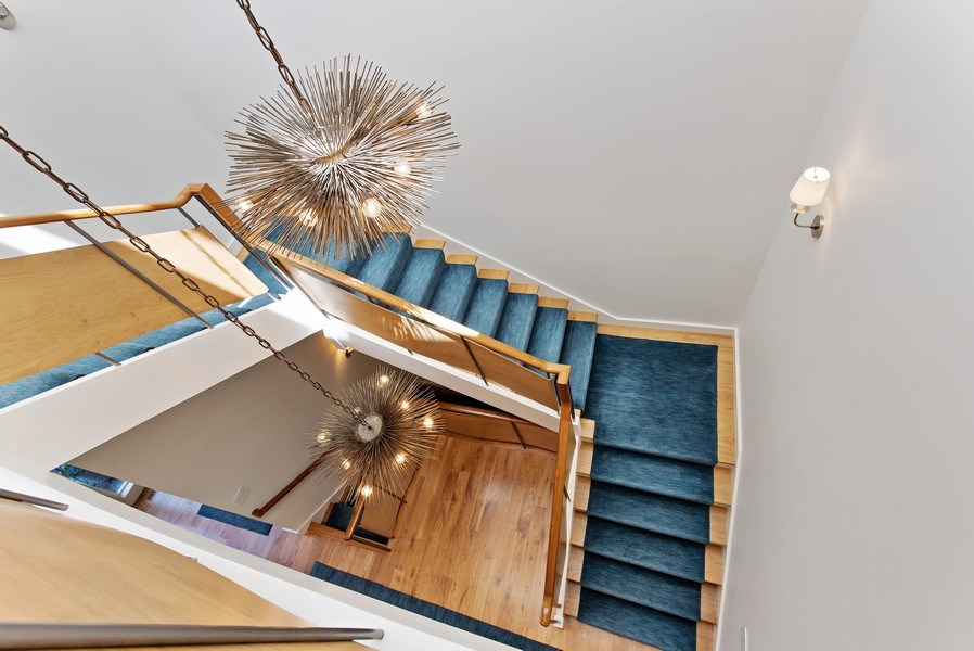 Real Estate Photography - 905 Sunset Road, Winnetka, IL, 60093 - Staircase