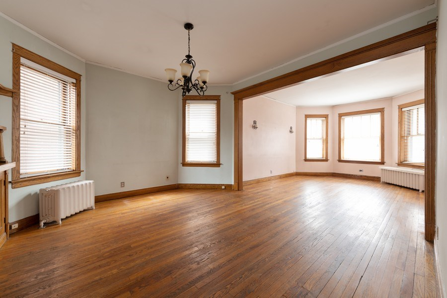 Real Estate Photography - 2212 W. Addison Street, Chicago, IL, 60618 - Living Room / Dining Room