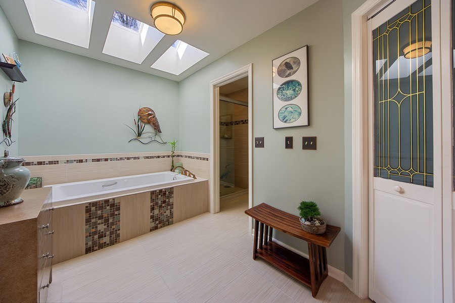 Real Estate Photography - 1635 E Clayton, Arlington Heights, IL, 60004 - Master Bathroom