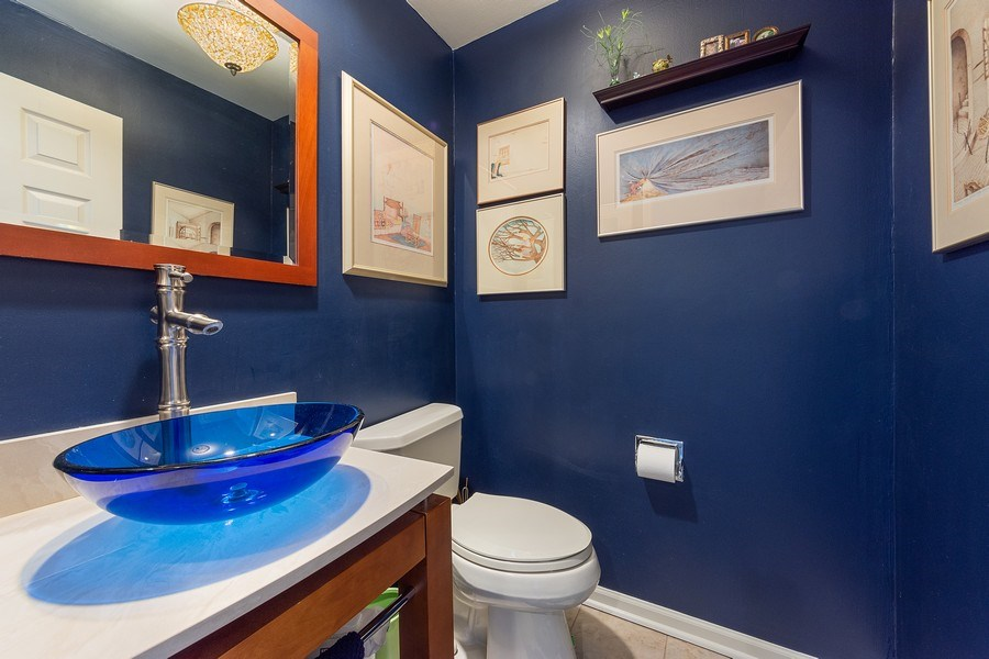 Real Estate Photography - 1635 E Clayton, Arlington Heights, IL, 60004 - Powder Room