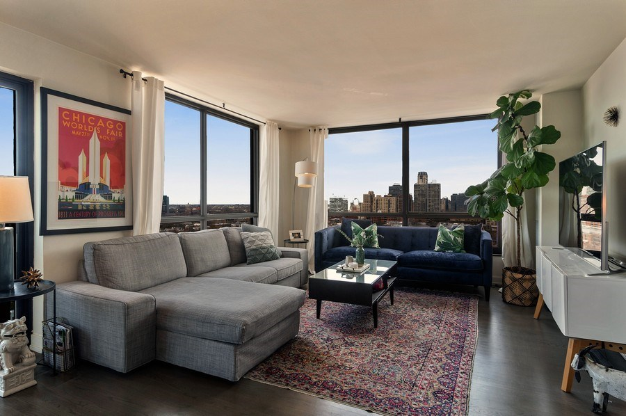 Real Estate Photography - 2020 N Lincoln Park West, Unit 14A, Chicago, IL, 60614 - Living Room