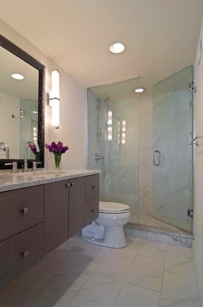Real Estate Photography - 2020 N Lincoln Park West, Unit 14A, Chicago, IL, 60614 - Master Bathroom