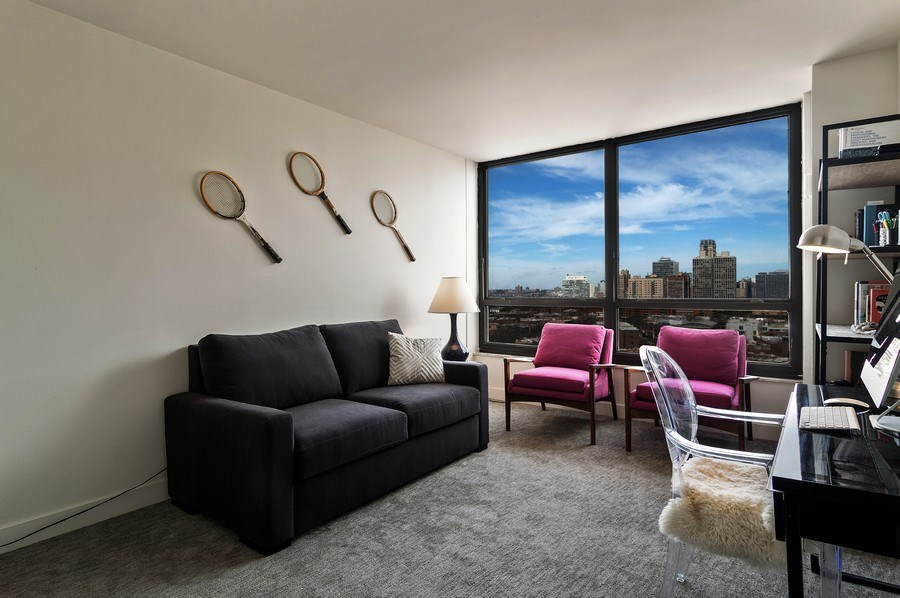 Real Estate Photography - 2020 N Lincoln Park West, Unit 14A, Chicago, IL, 60614 - 2nd Bedroom