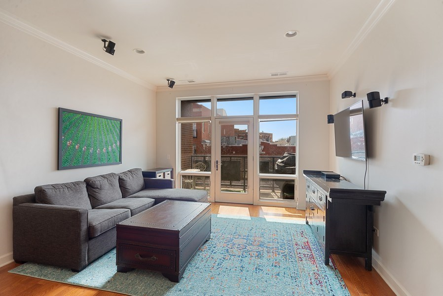 Real Estate Photography - 2326 W. Giddings, #302, Chicago, IL, 60625 - Living Room