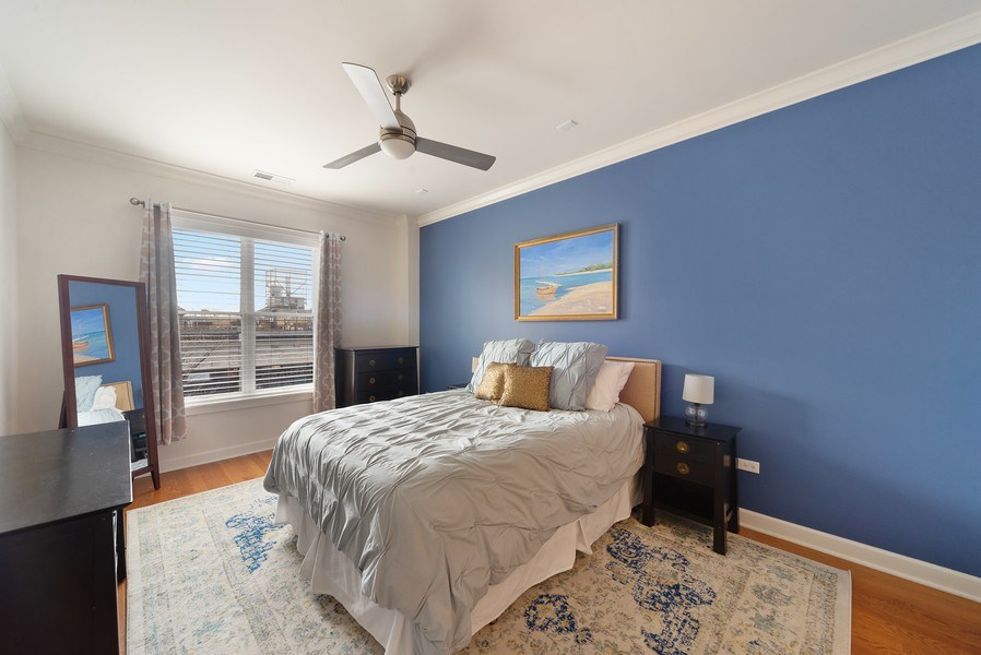 Real Estate Photography - 2326 W. Giddings, #302, Chicago, IL, 60625 - Master Bedroom