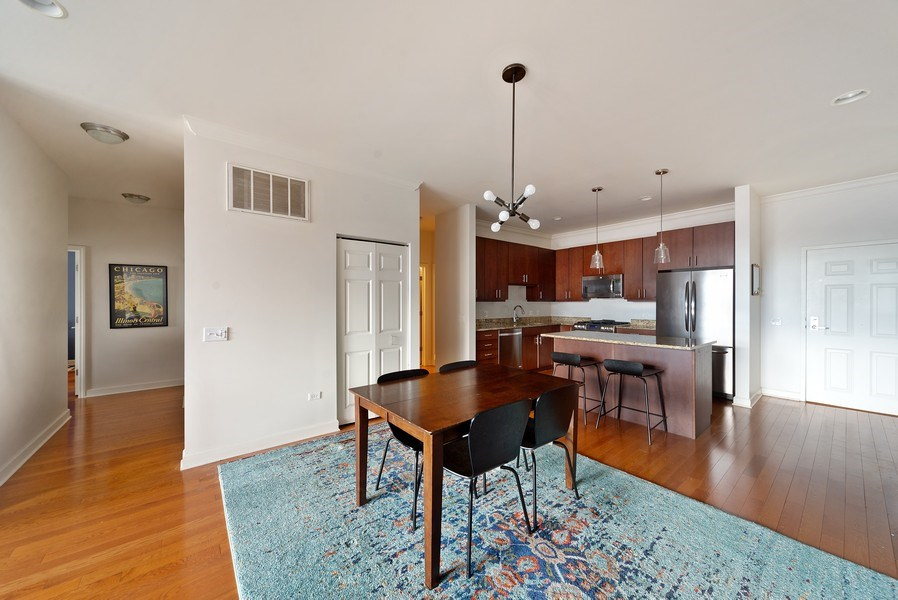 Real Estate Photography - 2326 W. Giddings, #302, Chicago, IL, 60625 - Dining Room
