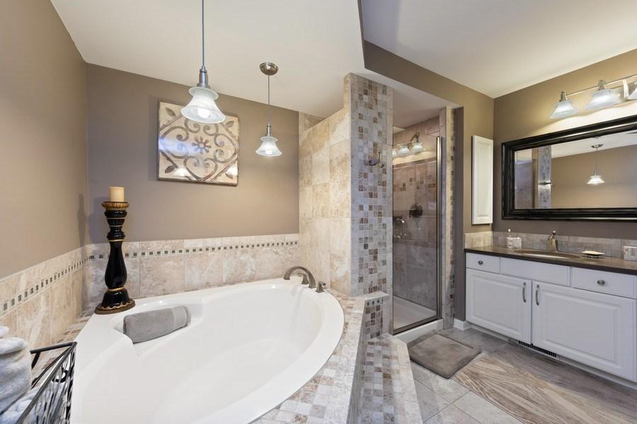 Real Estate Photography - 233 N Bay Ct., Lake Barrington, IL, 60010 - Master Bathroom