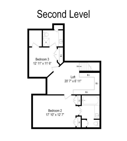 Real Estate Photography - 233 N Bay Ct., Lake Barrington, IL, 60010 - Floor Plan