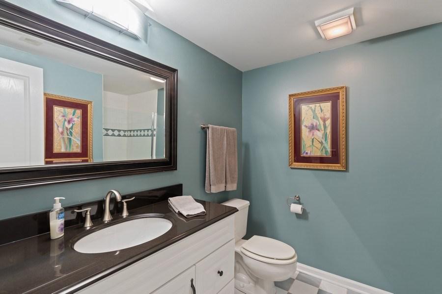 Real Estate Photography - 233 N Bay Ct., Lake Barrington, IL, 60010 - Basement Bathroom