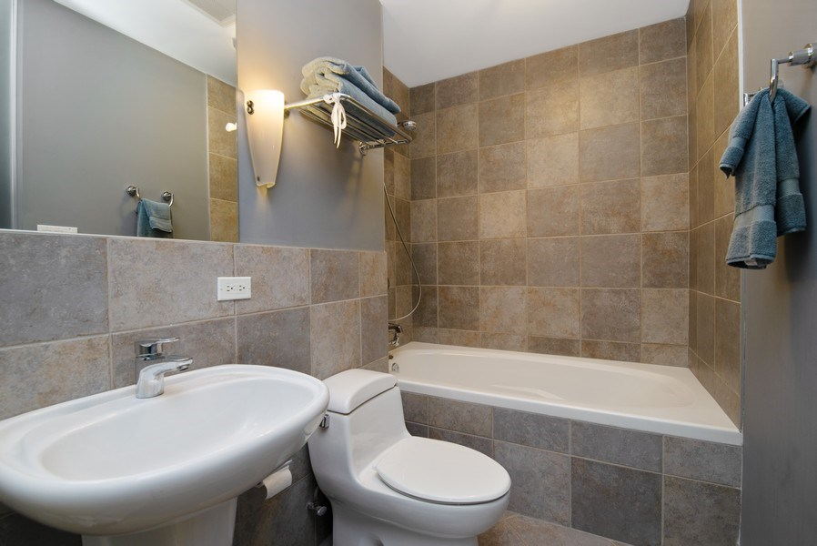 Real Estate Photography - 2136 W. Evergreen Ave., Unit 2B, Chicago, IL, 60622 - Master Bathroom