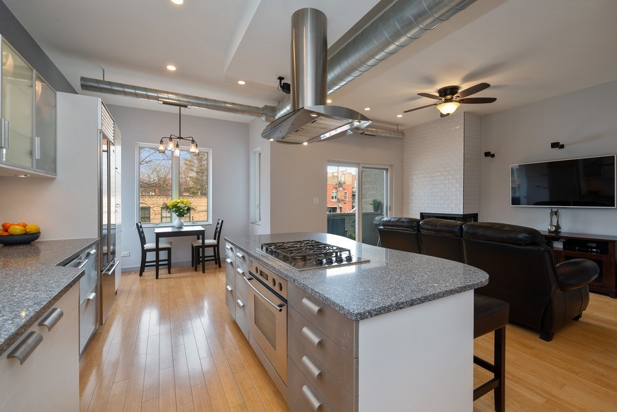 Real Estate Photography - 2136 W. Evergreen Ave., Unit 2B, Chicago, IL, 60622 - Great Room