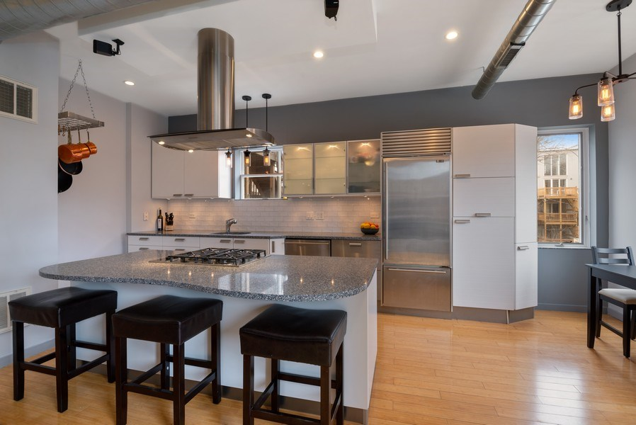 Real Estate Photography - 2136 W. Evergreen Ave., Unit 2B, Chicago, IL, 60622 - Kitchen