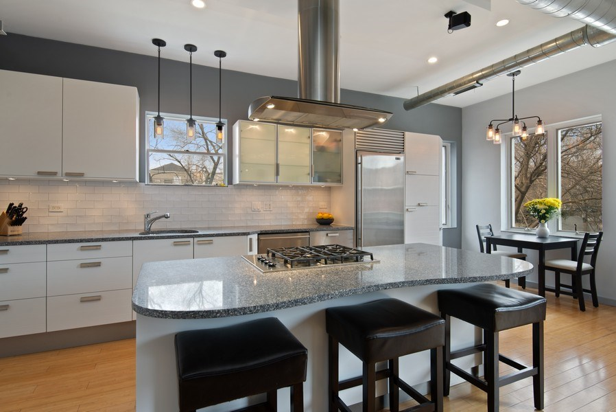 Real Estate Photography - 2136 W. Evergreen Ave., Unit 2B, Chicago, IL, 60622 - Kitchen / Dining Room